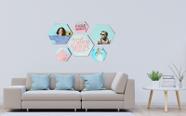 קיר צורת משושה איכותי עם הדפסת תמונה באיכות פוטו! בגדלים שונים!