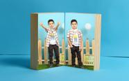 """שני בלוקים איכותיים עבים,מחוברים בצורת ספר שכיבה/עמידה גודל 10*15 ס""""מ!"""