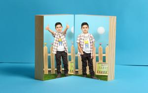 שני בלוקים איכותיים עבים,מחוברים בצורת ספר שכיבה/עמידה!