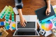 עיצוב מעטפה/נייר פירמה/ מדבקה בצבע אחד..