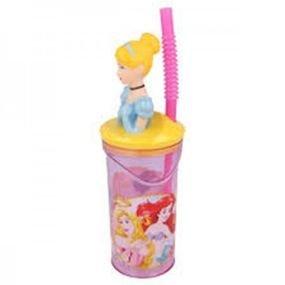 כוס דמות 3d עם קש 360 מל נסיכה