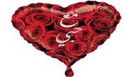 """בלון מיילר 18"""" לב מודפס ערבית"""