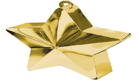 ثقالات للبالونات شكل نجوم  ذهبي