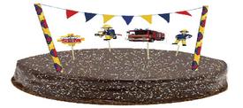 ערכת קישוט לעוגה דגלונים ודמויות-סמי הכבאי
