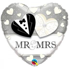 "بالون 18"" mr&mrs"