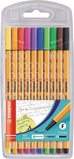 סט 10 עטים ראש לבד - סטבילו