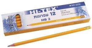 12 עפרונות  עם מחק HB2