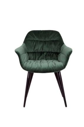 כורסא מעוצבת בריפוד קטיפה בגוון ירוק