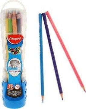 12 עפרונות צבעוניים של MAPED