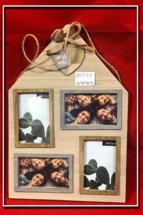 מסגרת לתמונות מעץ מעוצבת בצורת 4 תמונות