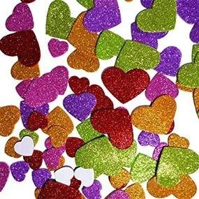 24  יח' חיתוכי סול בצורת לב גדול נוצץ