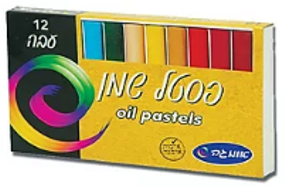 פסטל שמן 12 צבעים - אומגה