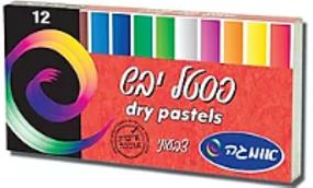 פסטל יבש 12 צבעים - אומגה