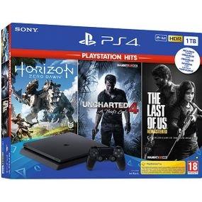 Sony קונסולה Playstation 4 1TB  + שלושה משחקים