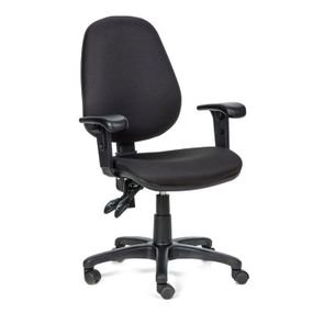 כסא מזכירה ידיות מתכווננות