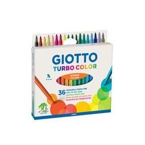 GIOTTO TURBO COLOR غير سامة وصديقة للأطفال ، ألوان مشرقة ومتنوعة