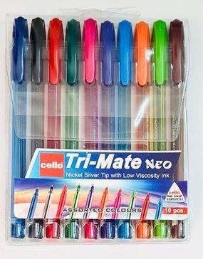 10 עטים - צבעים שונים
