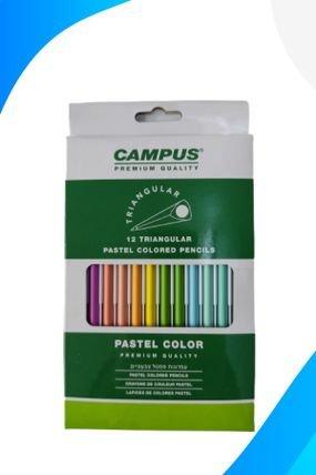 עפרונות צבעוניים קמפוס פסטל( 12 עטים )