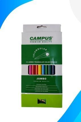 עפרונות צבעוניים קמפוס דקים ( 12 עטים )