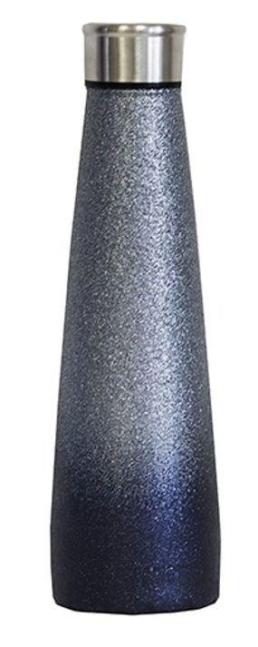בקבוק גליטר שחור כסוף - סטיילש