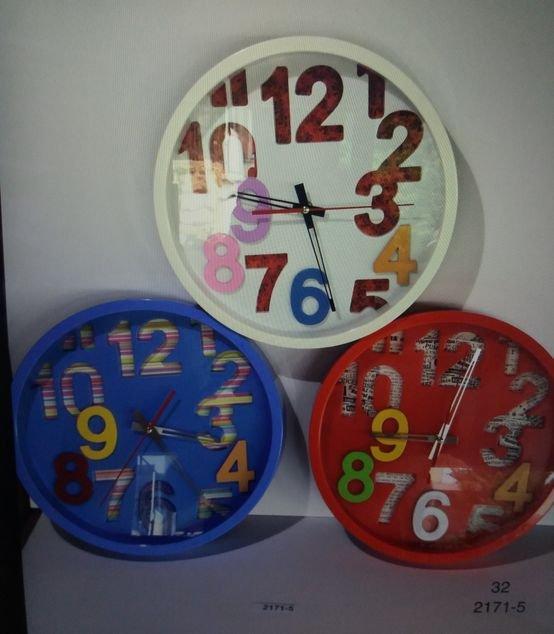 שעון קיר  - מספרים