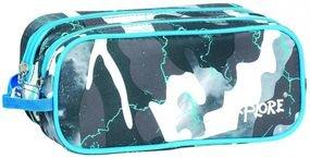 קלמר אקספלור מרובע כחול לבן צבאי שני תאים