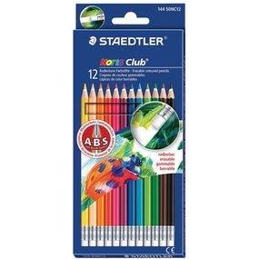 12 עפרונות צבעוניים מחיקים