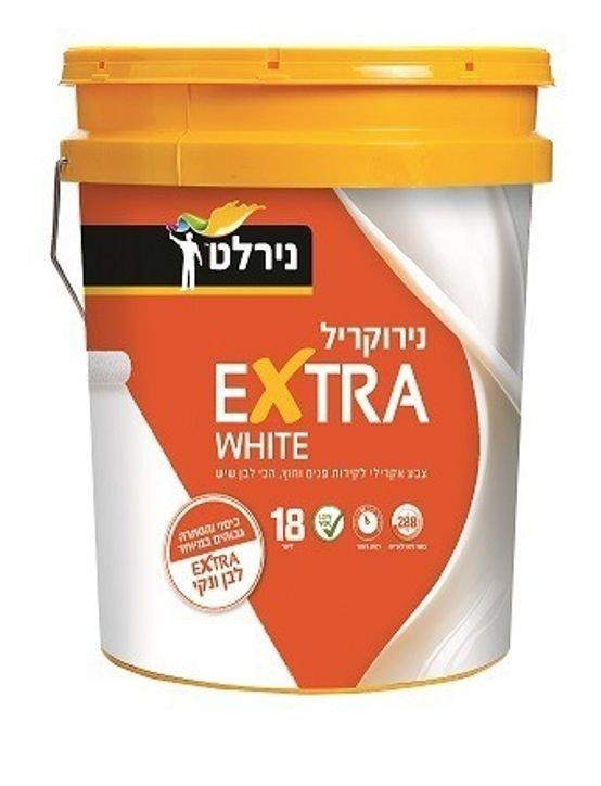 נירוקריל לבן - כמות 18 ליטר