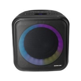 ערכת קריוקי ניידת + מיקרופון בעלת סוללת ליתיום ותאורה צבעונית מערכת קר