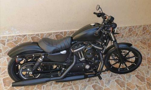 Harley XL883 Iron 2019 model Matte black color