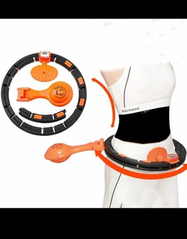 جهاز هولا هوب الذكي لتمارين اللياقة البدنية نحيفة للبطن على شكل S لقياس الجسم بحرق الدهون والبطن7041