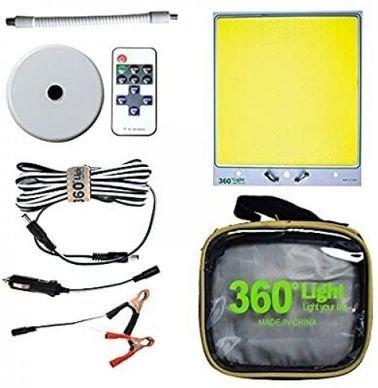 مصباح LED للتخييم بزاوية 360 درجة، بقاعدة مغناطيسية 7000 شامل القيمة المضافة