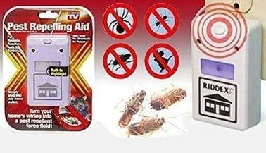 جهاز طارد للحشرات طرد البعوض بالصوت الجهاز يصدر ذبذبات لاتتحملها الحشرات. والقوارض والناموس