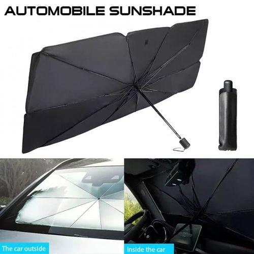 مظلة الشمس للسيارة  مصممة لحماية زجاج سيارتك الأمامي من أشعة الشمس المباشرة لتخفيف درجة الحرارة