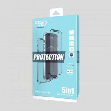 بكج 5في1 حماية للايفون 12 برو ماكس للخصوصية ضد الملاقيف