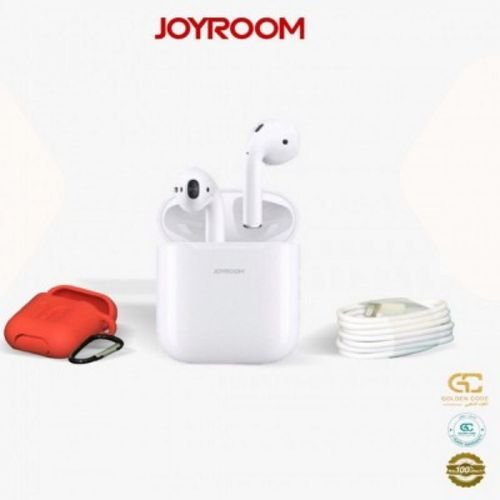 سماعة ايربودز من جيروم Joyroom JR-T03s- الإصدار الأخير المطور - أبيض - الكود الذهبي ضمان سنتين