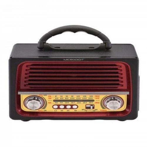 مشغل MP3 وراديو ذكي MRS005T أسود/أحمر ميكرو ديجيت