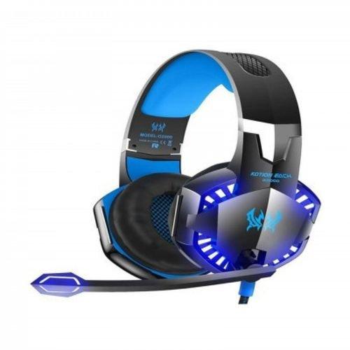 سماعة رأس للألعاب G2000 مزود بميكروفون بإضاءة LED الأسود / الأزرق