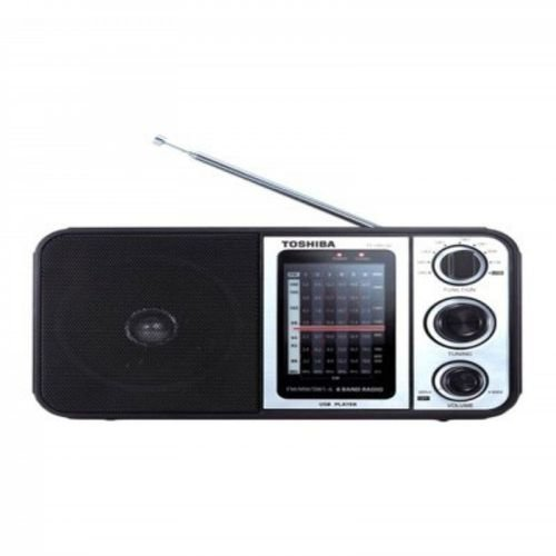راديو متعدد النطاقات مزود بمنفذ USB TY-HRU30 أسود/فضي