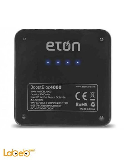 Eton BoostBloc 4000mAh Powerbank Black color BOOST BLOC 4000