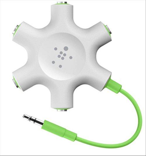 موزع متعدد المنافذ لسماعات الرأس بيلكين - لون أبيض/أخضر - F8Z274BTGRN