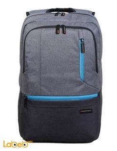Promate Laptop Backpack - 15.6-inch- Blue/Grey color - ASCEND-BP