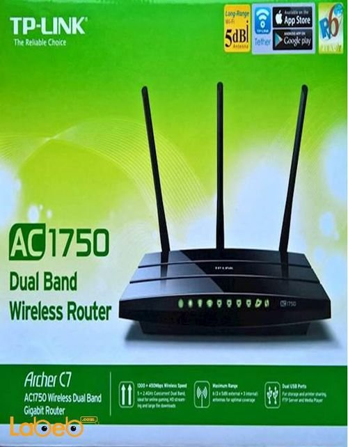 TP Link AC1750 Wireless Dual Band Gigabit Router Archer D7
