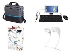 promate TopLoader 15.6-inch- Laptop Bag +Card Reader+Bluetooth Earphon