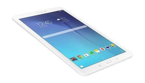 White Samsung Tab E 8GB 3G side