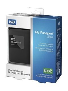 (WD My Passport Ultra Premium -500GB Portable -  (WDBWWM5000ABK-EESN