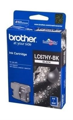 Brother Black Colour Ink Cartridge - LC67HY-BK