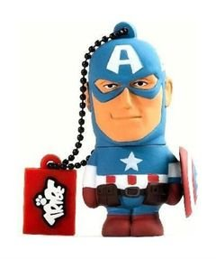 Tribe Captain America - 8GB - 2.0 USB - Flash Drive - Blue color