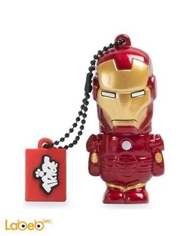 ذاكرة فلاش USB مجسم كابتن اميركا ترايب 8 جيجابايت أحمر
