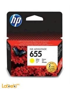 HP 655 Ink Cartridge - Yellow color - CZ112AE